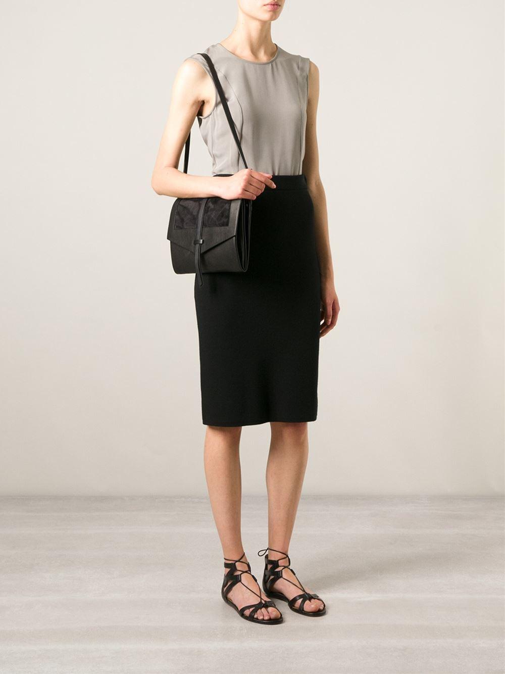 lyst isabel marant helmet shoulder bag in black