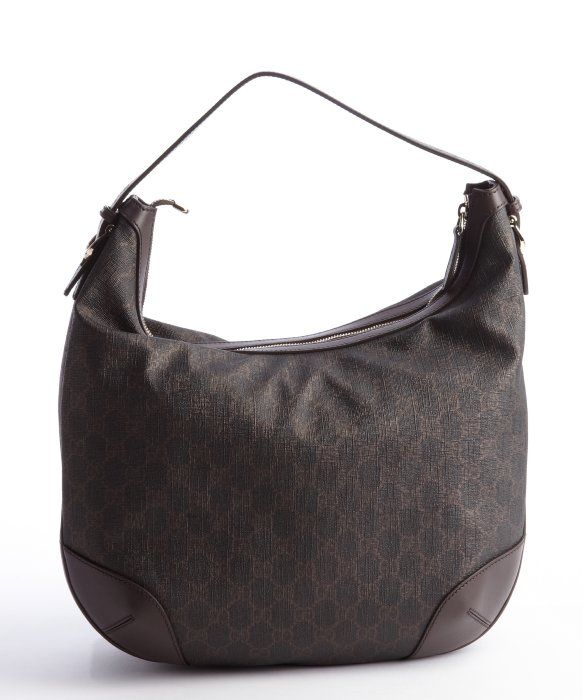 Gucci Brown and Black GG Canvas Hobo Bag in Gray | Lyst