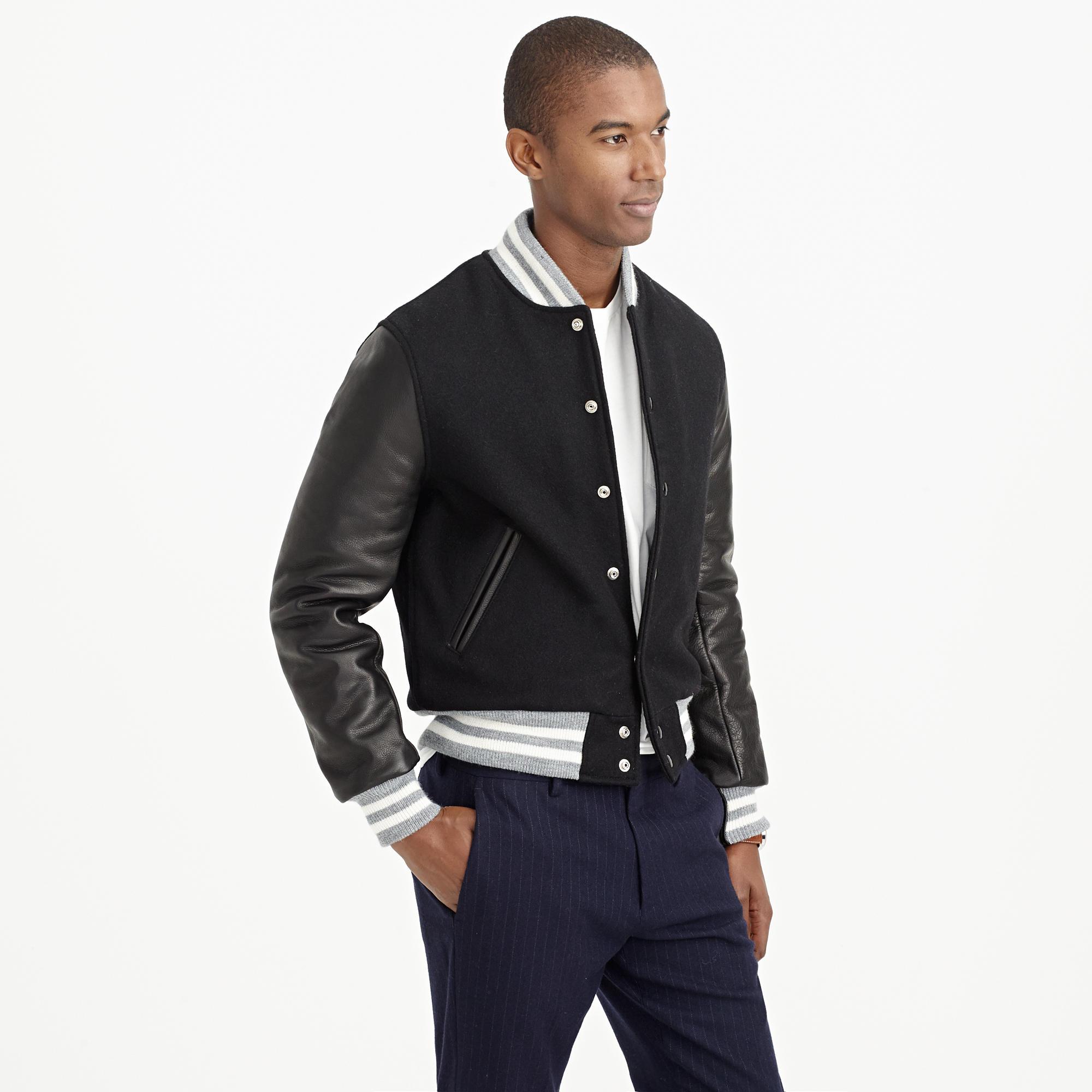 Lyst Jew Golden Bear Sportswear Quilted Varsity Jacket In Black
