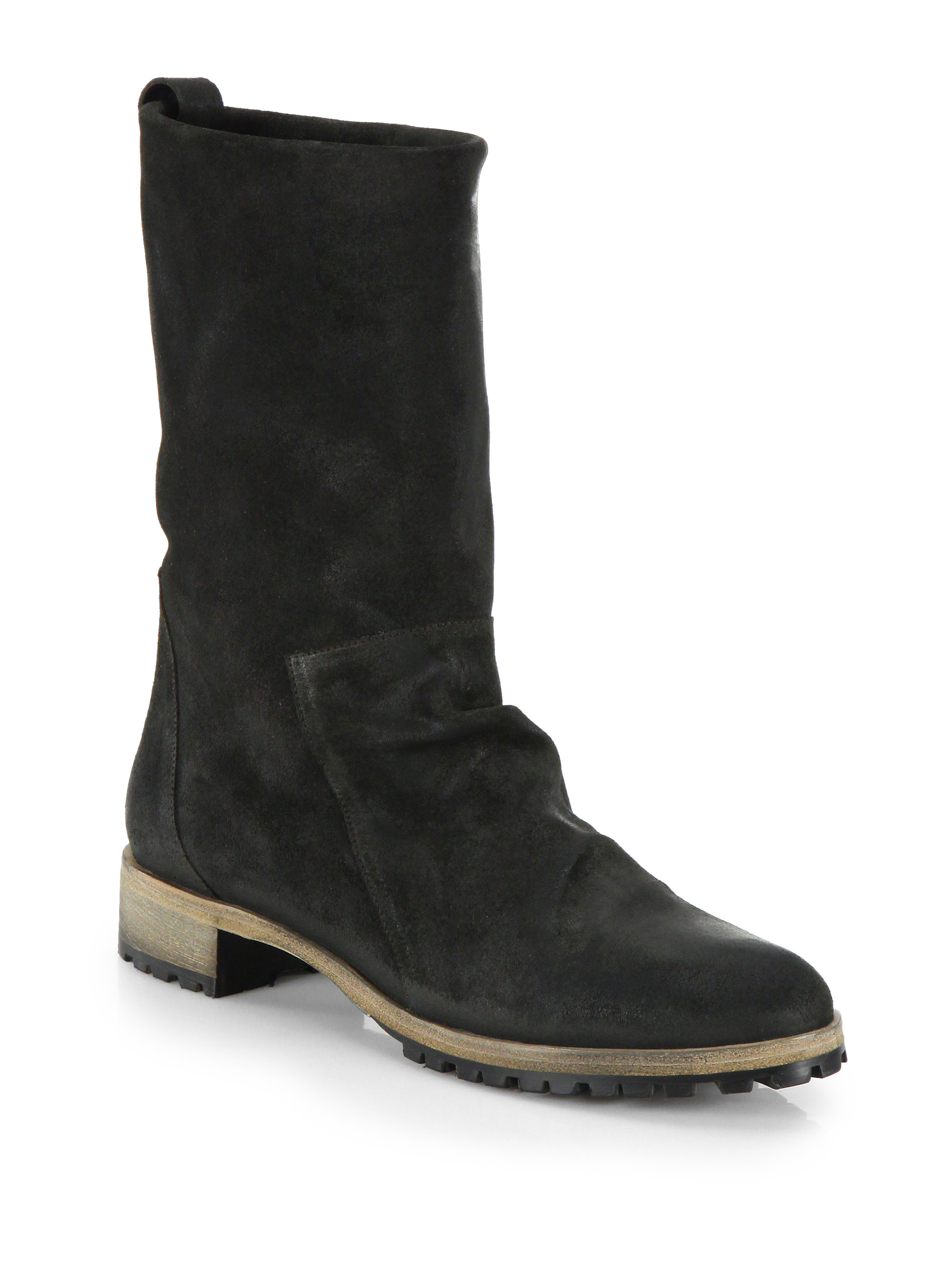 coclico odo brushed suede mid calf boots in black lyst
