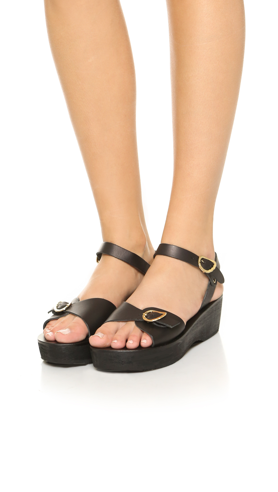 Ancient Greek Sandals Kali Sabot Sandals Black In Black