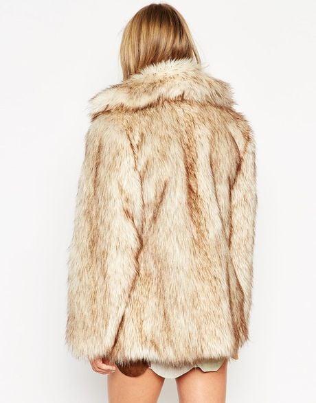 Hot Beige Vintage Faux Fur Coat By Asos Store