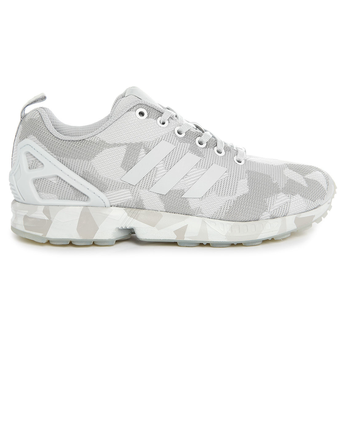 adidas originals zx flux mesh grey camouflage sneakers in. Black Bedroom Furniture Sets. Home Design Ideas