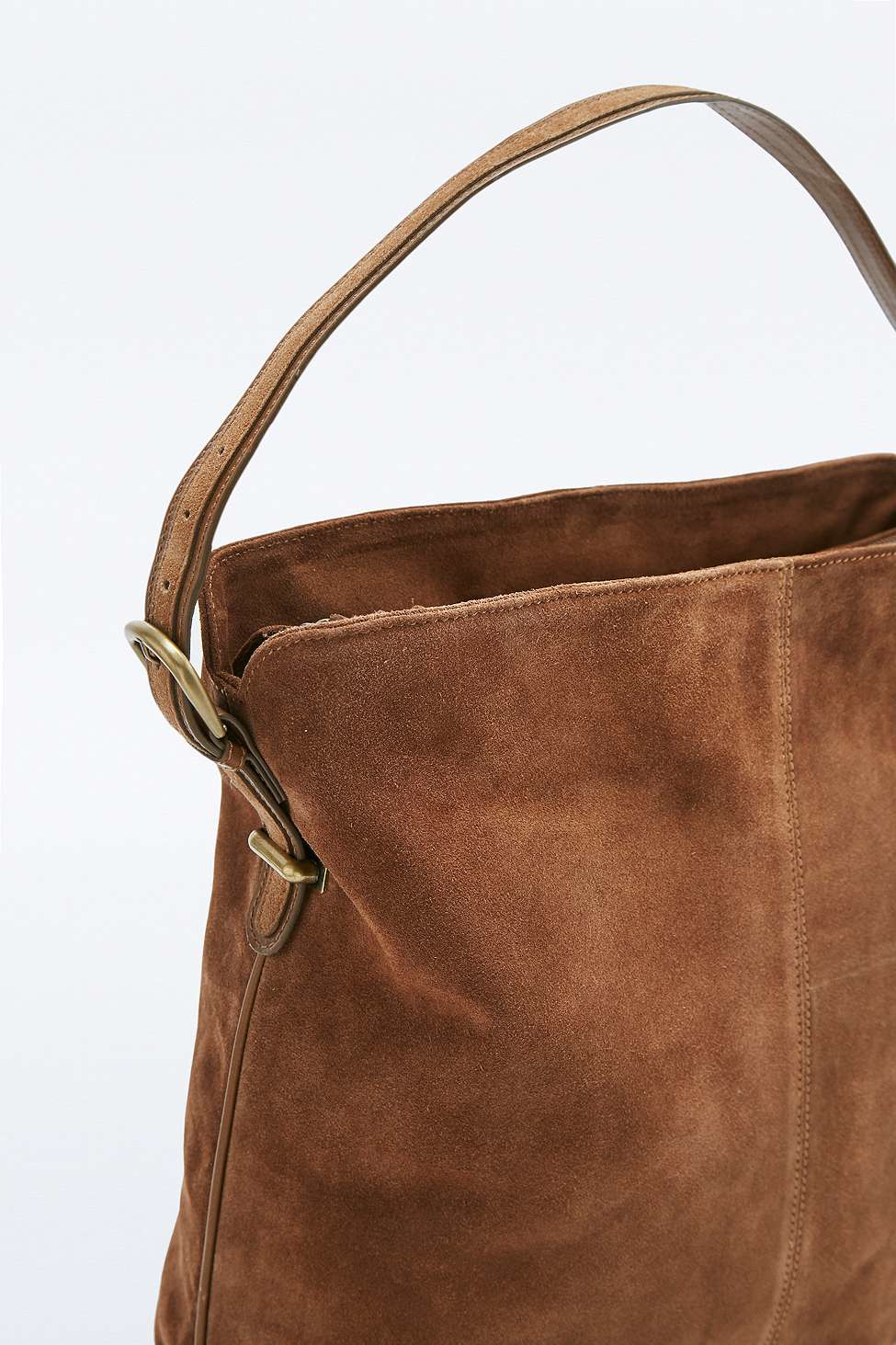 Urban outfitters Tan Suede '70s Hobo Bag in Brown | Lyst