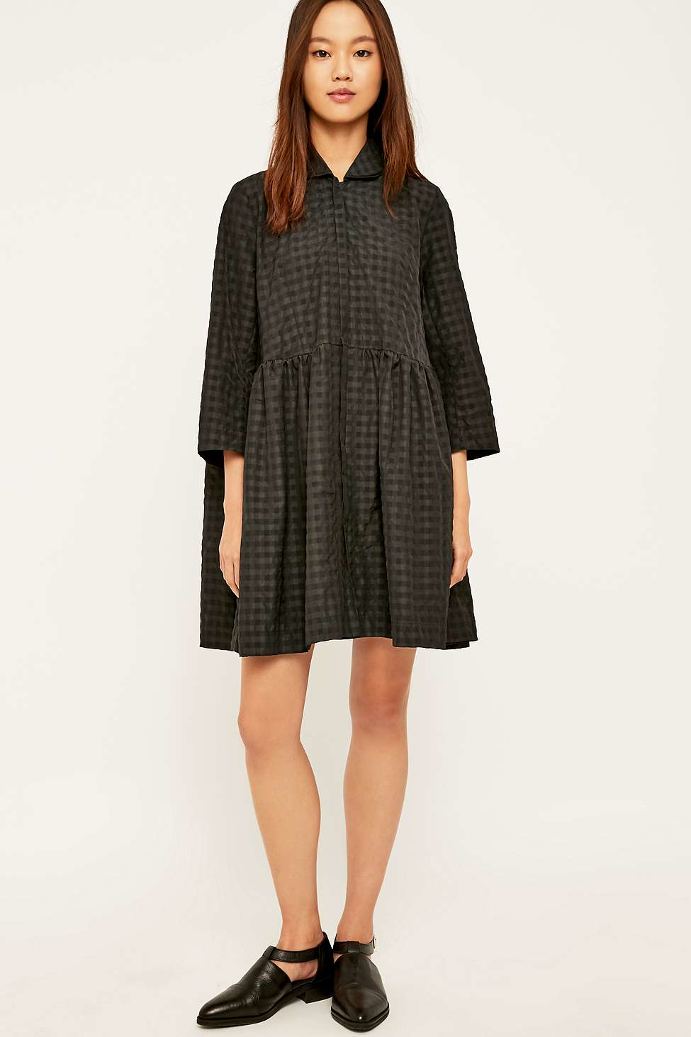 Where To Buy Womens Tie Front Smock Dress Peter Jensen Pictures Cheap Online nSyW3o