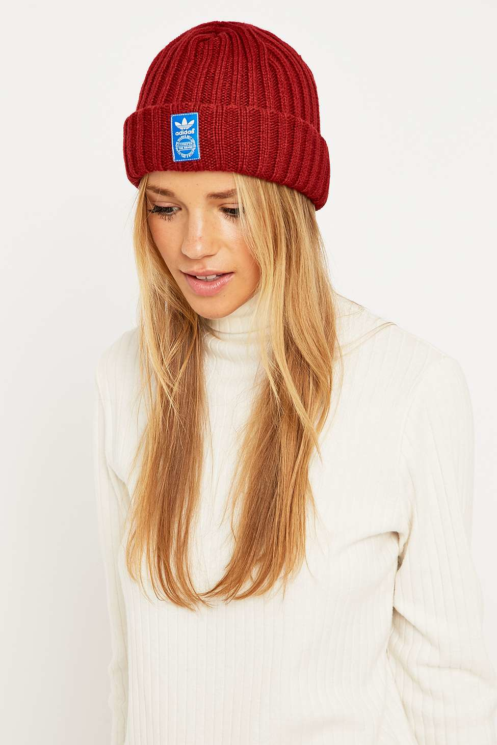 wholesale dealer 2bd22 8b19e adidas Originals Red Fm Beanie in Red - Lyst