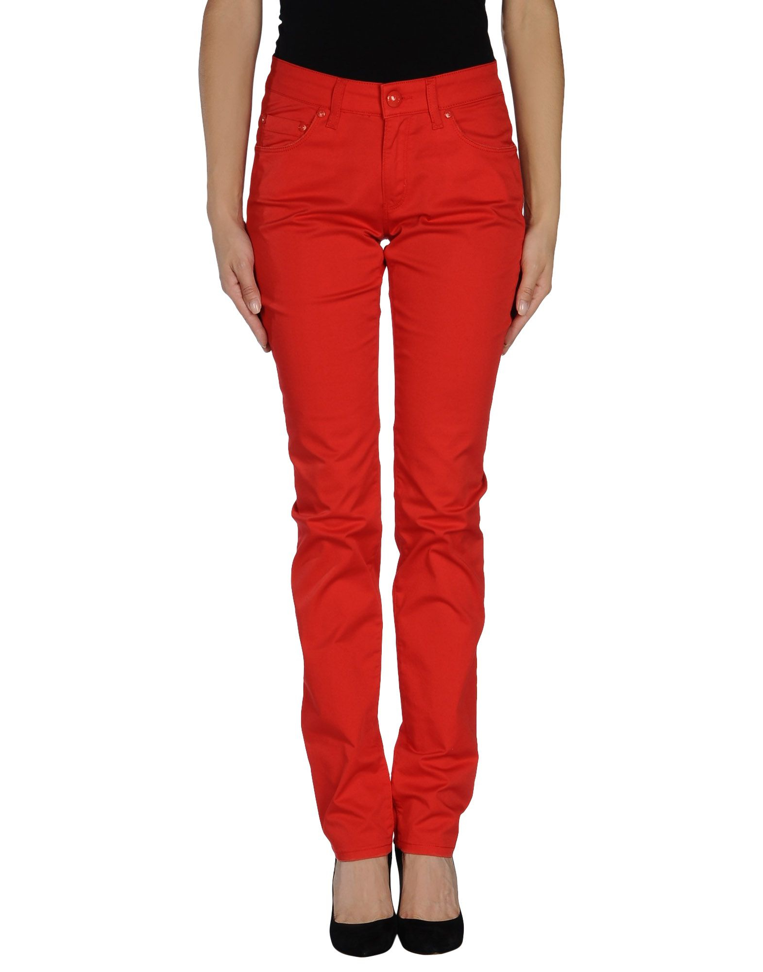 love moschino casual trouser in red lyst. Black Bedroom Furniture Sets. Home Design Ideas