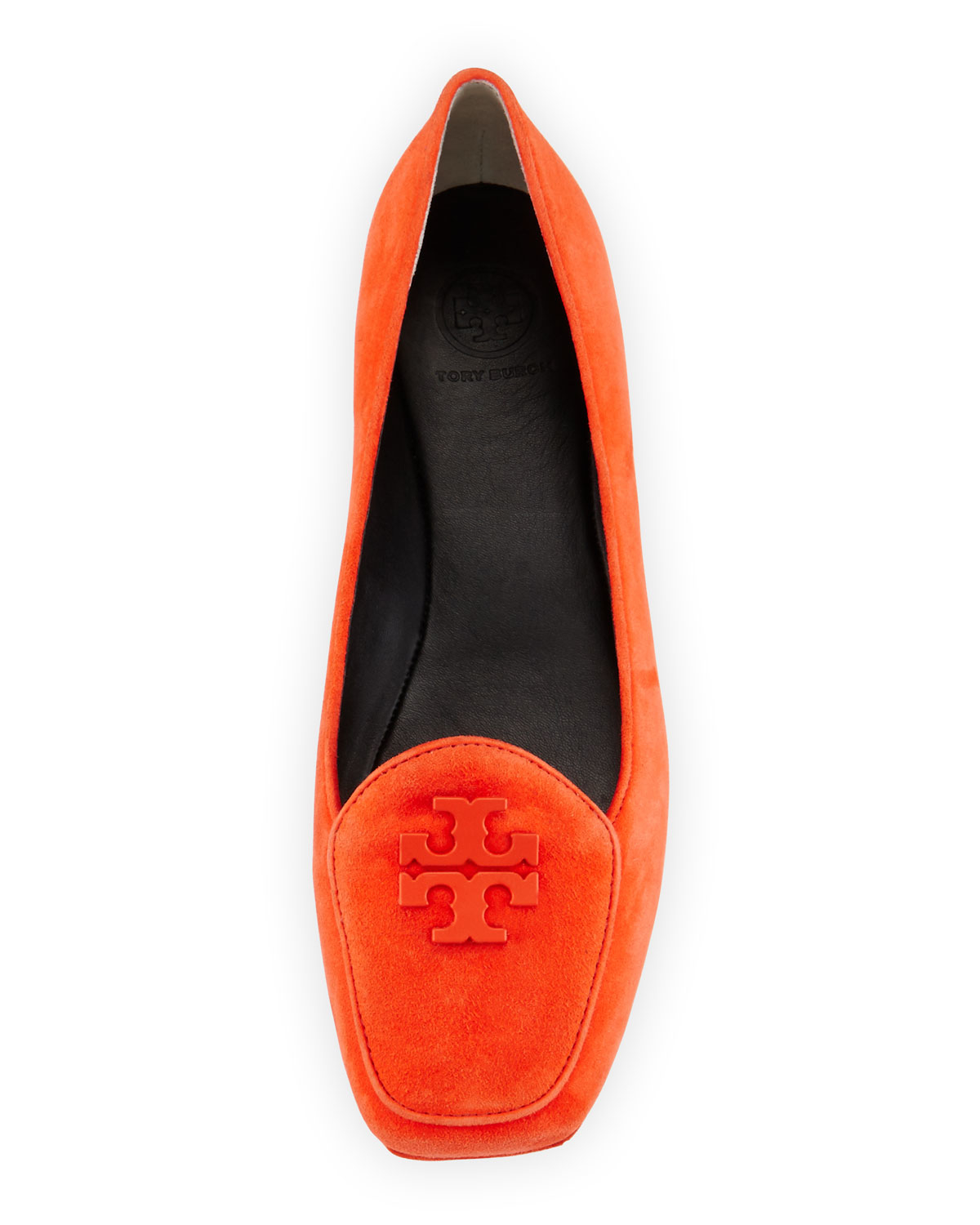 bfda0fdd4640c4 Lyst - Tory Burch Fitz Suede Logo Loafer in Red