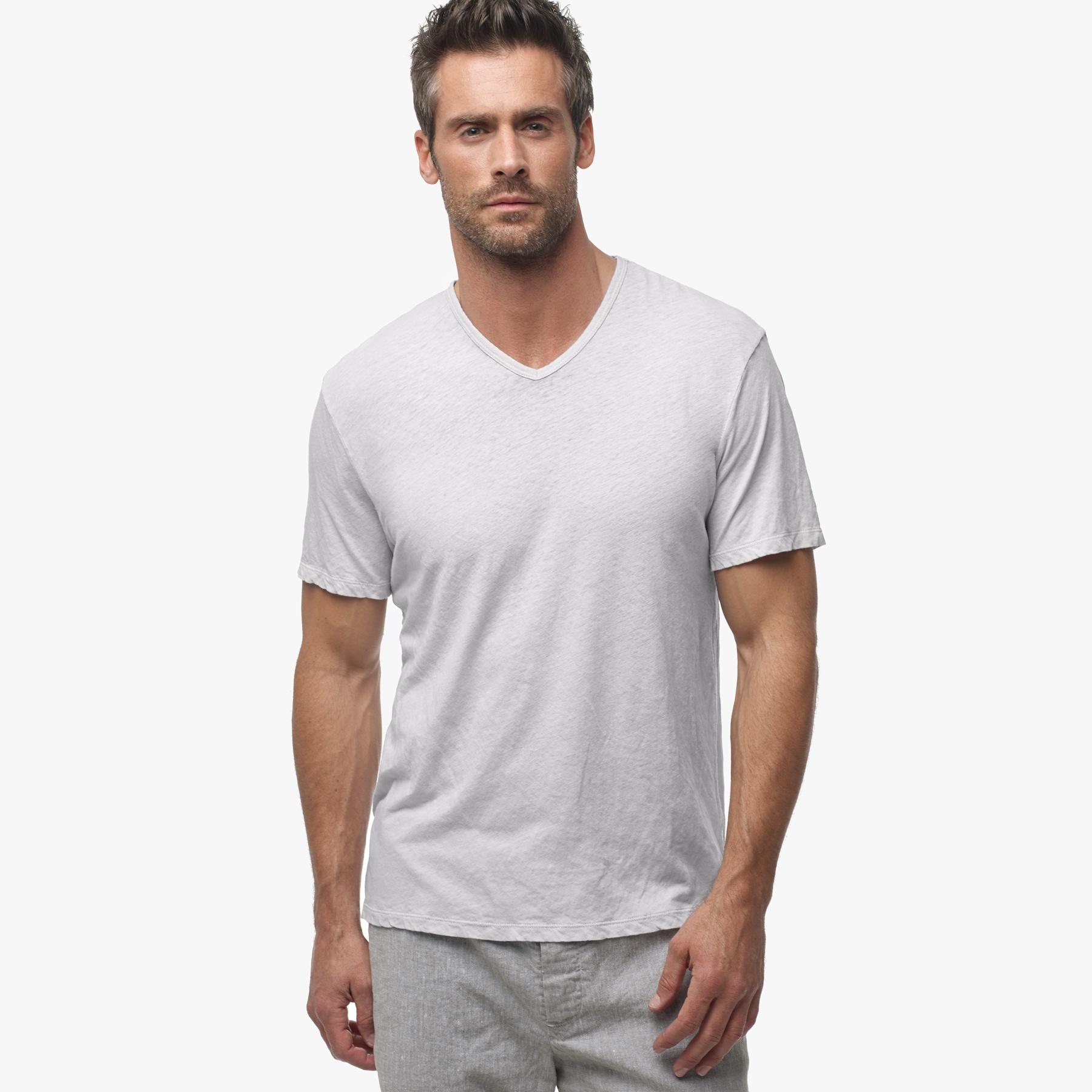388134b38d0 James Perse Cotton Linen V-neck in White for Men - Lyst