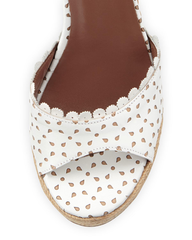 Tabitha Simmons Harp Eyelet Leather Espadrille Wedge
