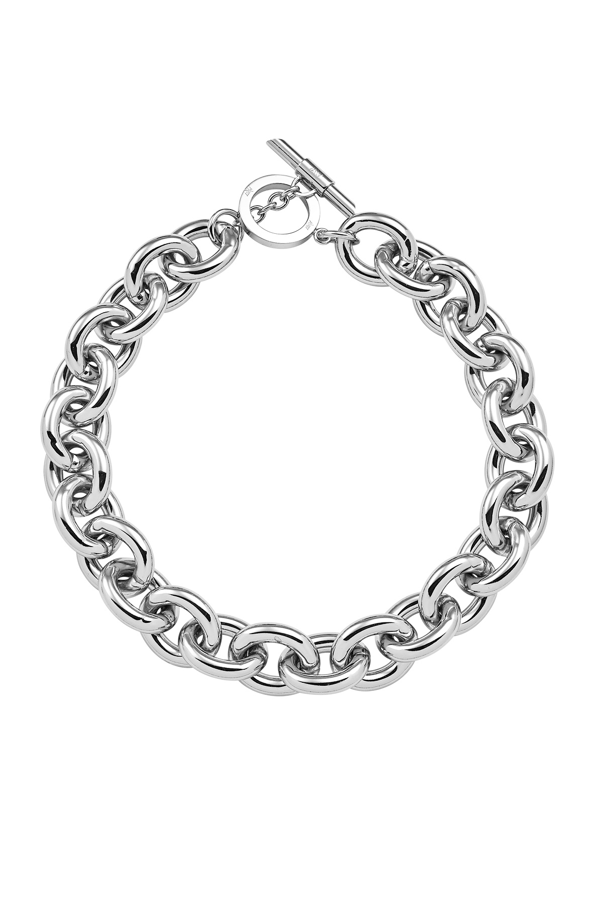 Amanda Wakeley Chunky Silver Necklace In Metallic Lyst