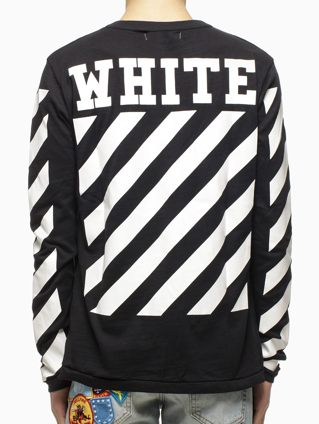 Off White Spring Summer 2017 Women S Collection: Off-White C/O Virgil Abloh Striped Long Sleeve T
