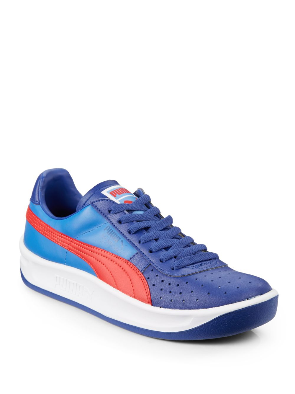 Lyst Puma Gv Special Leather Colorblock Sneakers In Blue