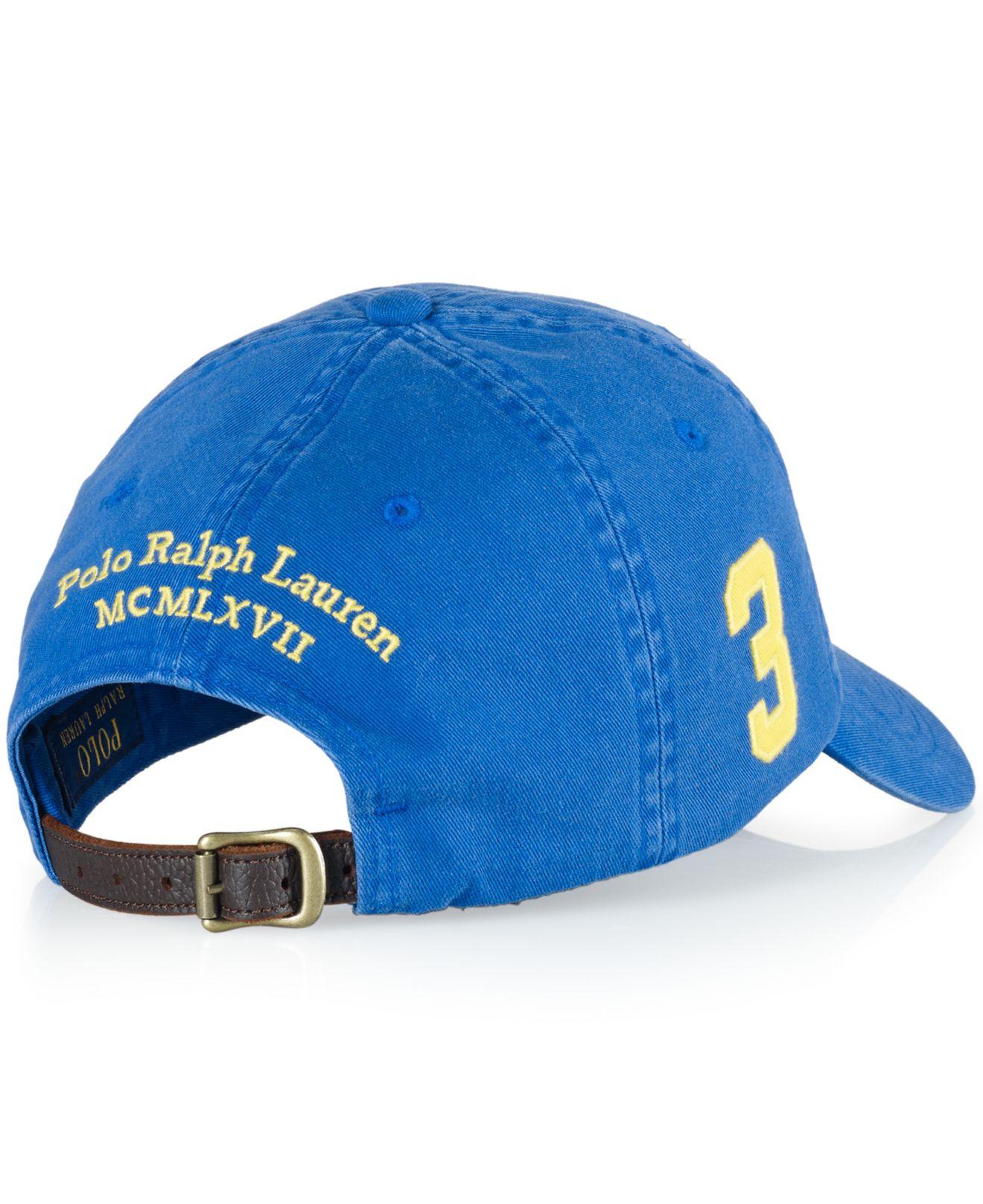 f1722353c794b ... sweden lyst polo ralph lauren classic chino sports cap in blue for men  f760f a8fdf