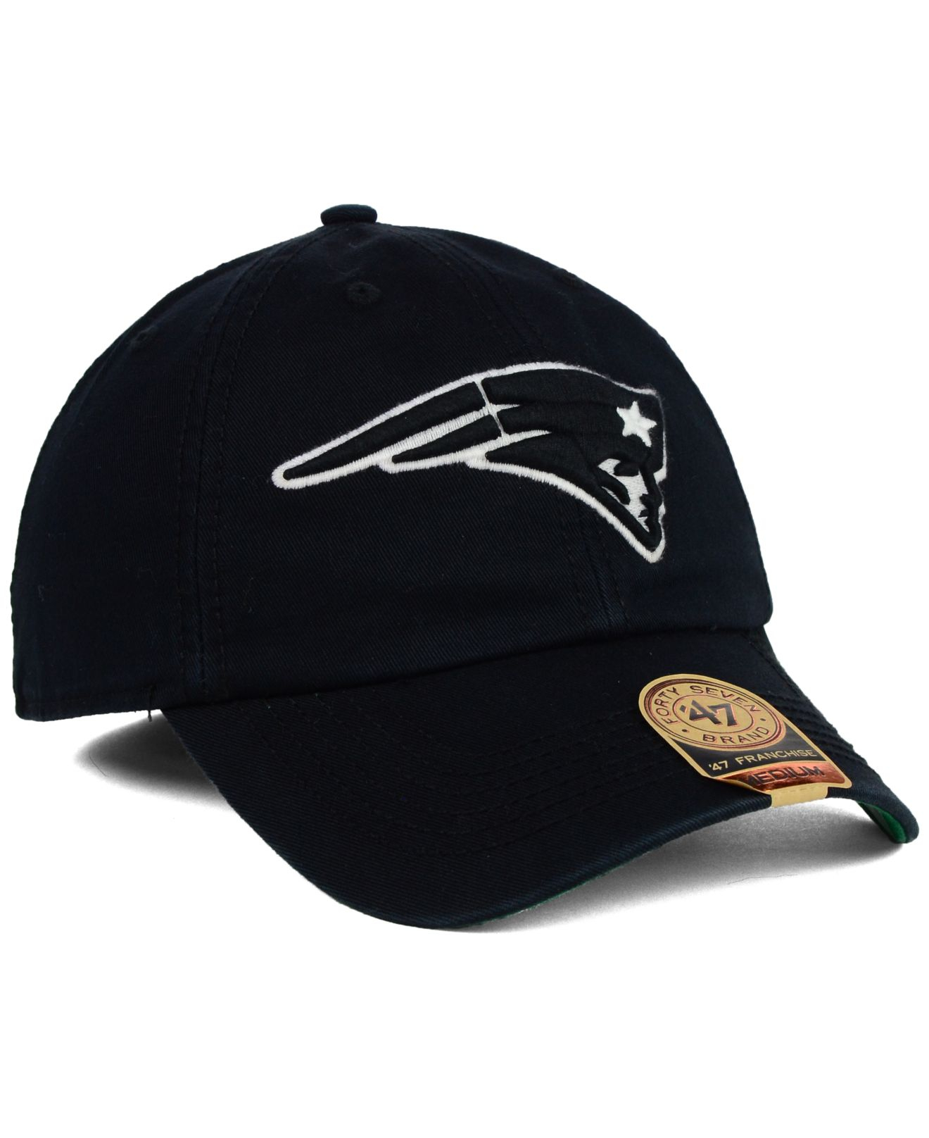 6c43641bdf1e2 ... sale lyst 47 brand new england patriots black white franchise cap in  da0ea 7f6c0 low price nfl ...