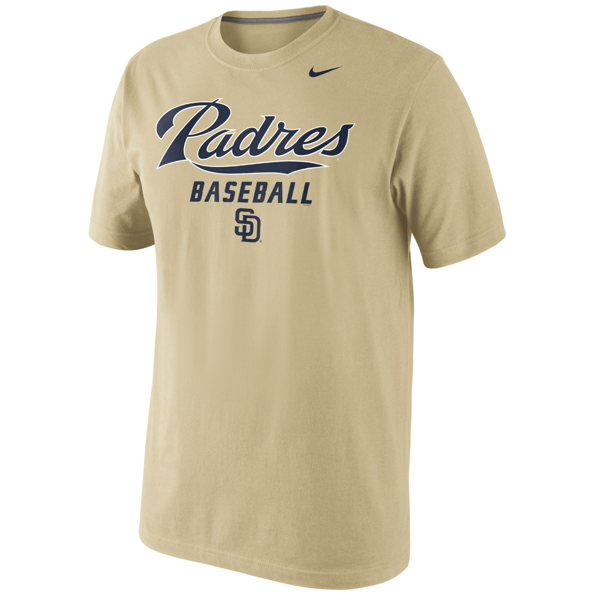 Nike mens san diego padres practice tshirt in gold for men for T shirt screen printing san diego
