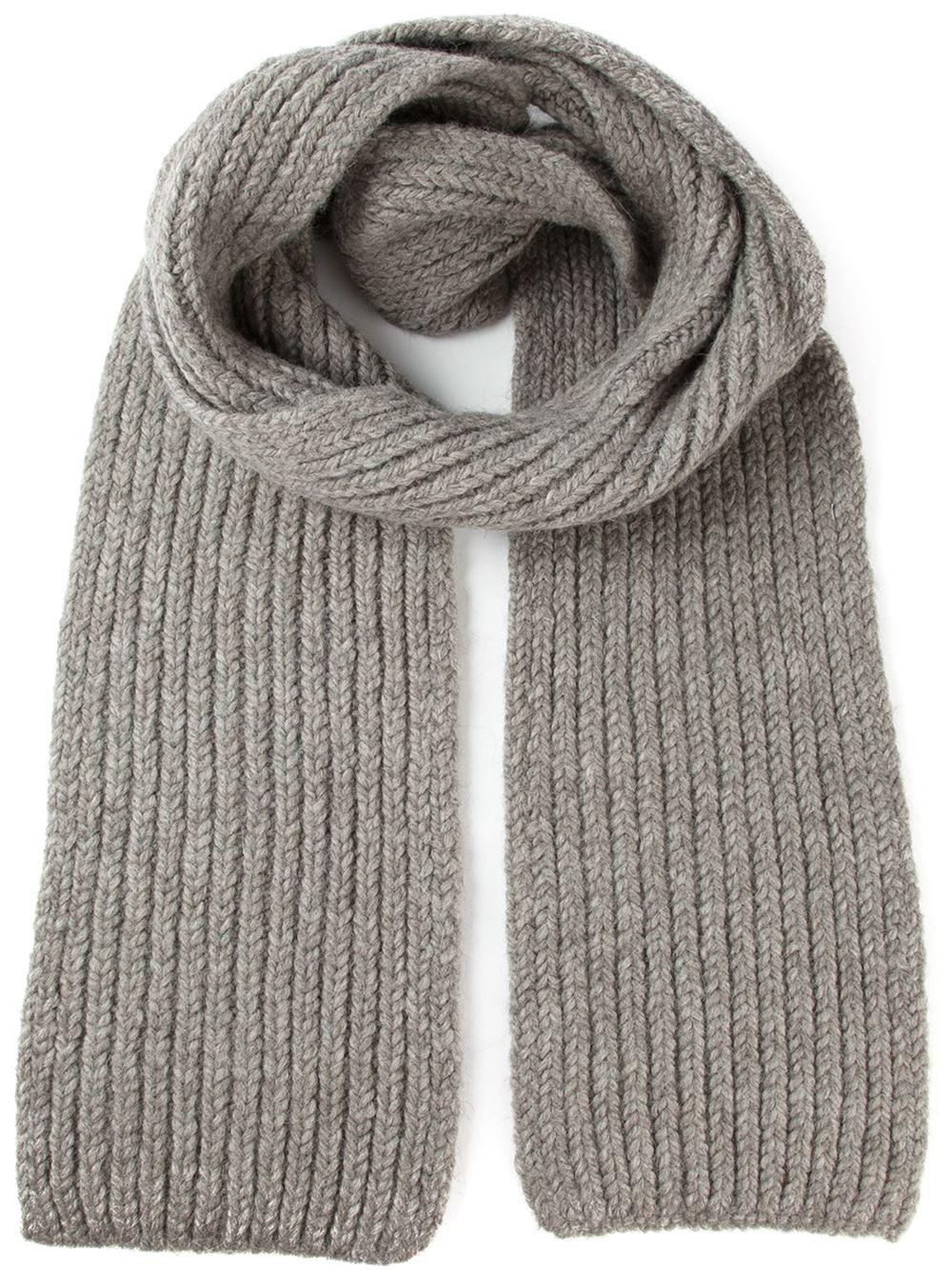 Rib Knit Scarf Pattern