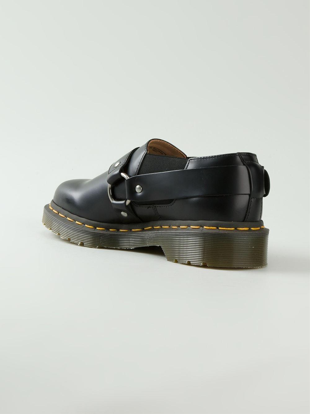 3983383ab7315 Dr. Martens Comme Des Garçons Buckle Monk Shoes in Black - Lyst
