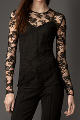 Burberry Chantilly Lace Top