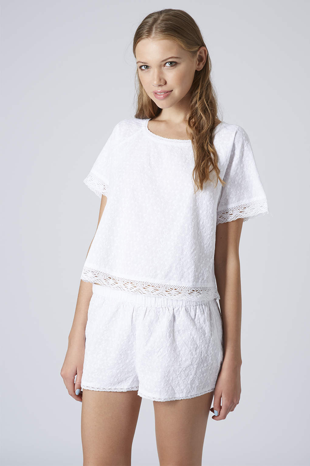 TOPSHOP Pug Tee and Short Pyjama Set in White - Lyst
