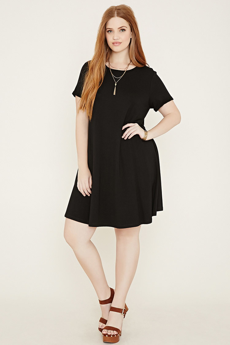 Forever 21 Plus Size A-line Dress in Black | Lyst