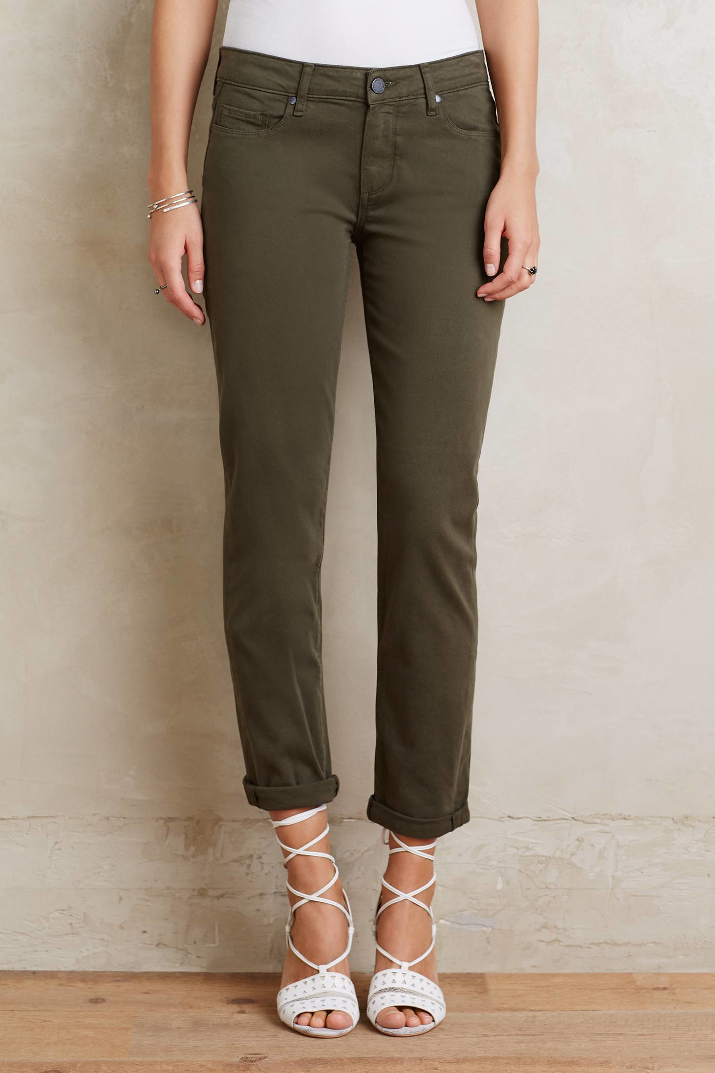 Paige Jimmy Jimmy Skinny Jeans in Green   Lyst