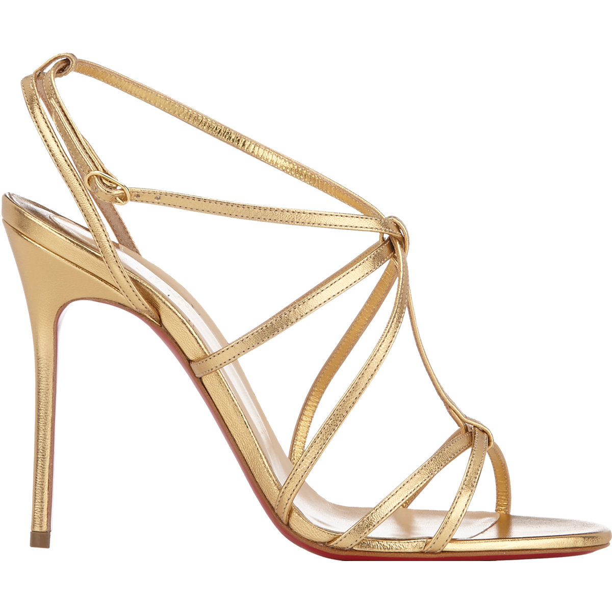 e93d9a4863e Christian Louboutin Youpiyou Metallic Leather Sandals in Metallic - Lyst