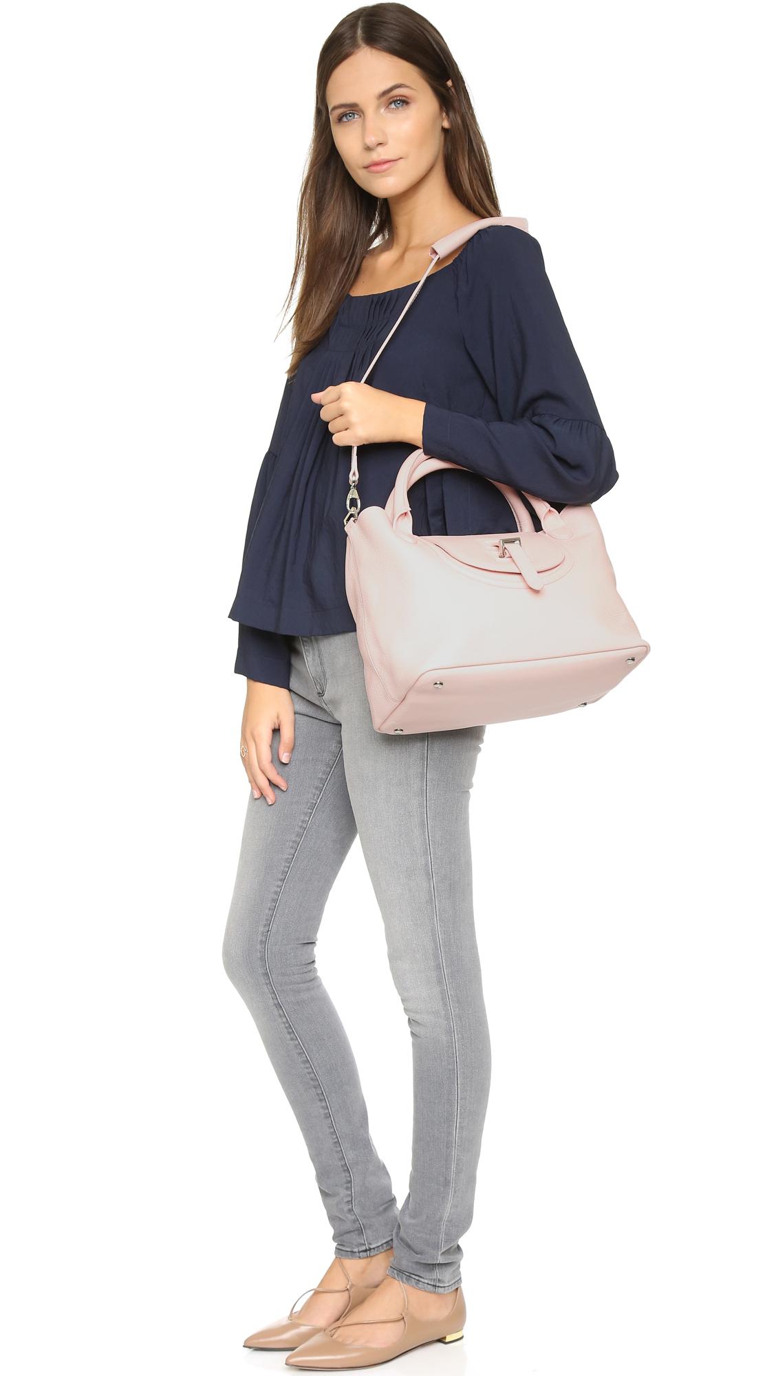 lyst meli melo classic medium thela halo bag pastel pink in pink. Black Bedroom Furniture Sets. Home Design Ideas