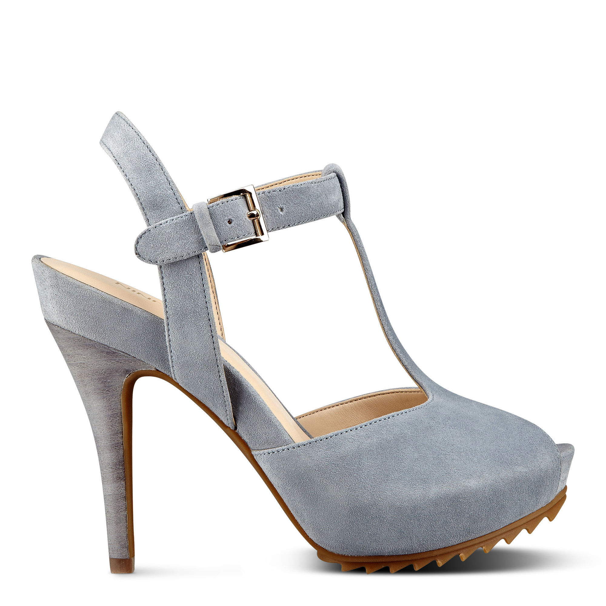 c4b52d42617ded Lyst - Nine West Radisa Platform Sandals in Gray