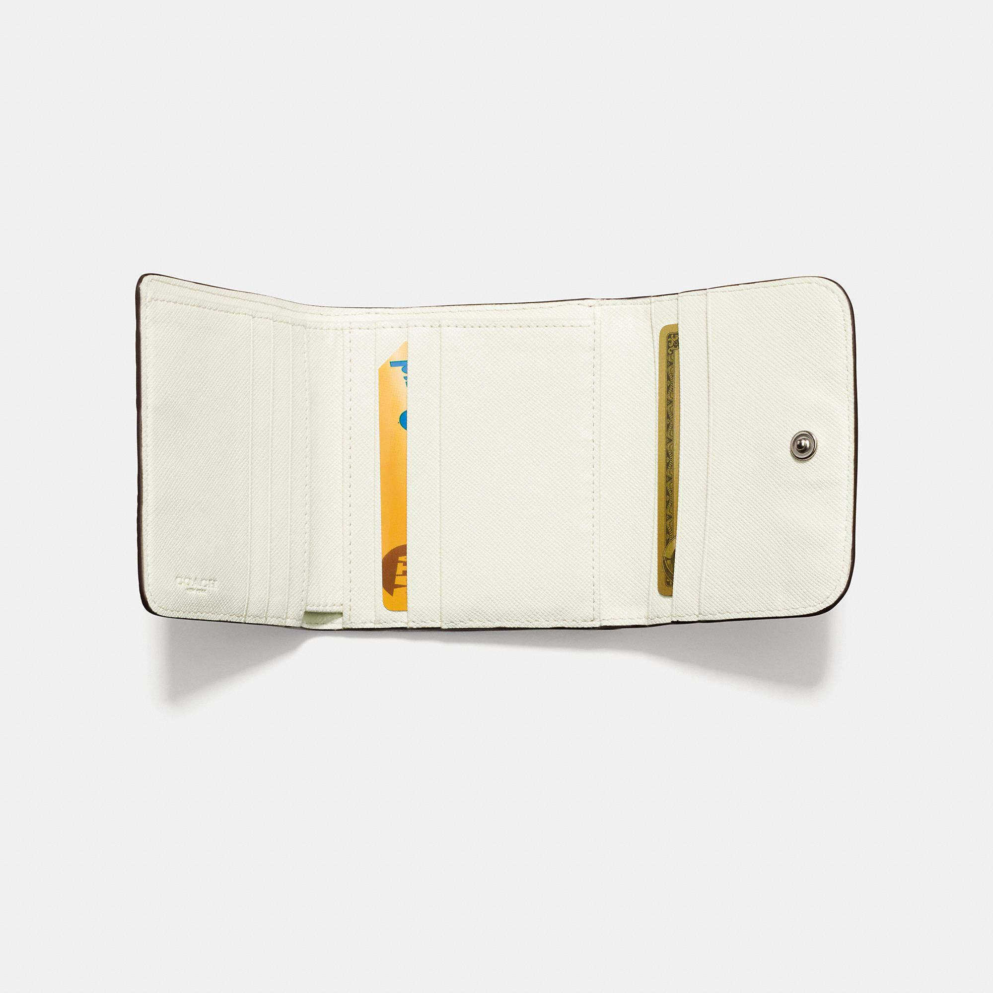 Lyst - COACH Small Wallet In Colorblock Signature Coated Canvas in ... d5d37fd10aab5