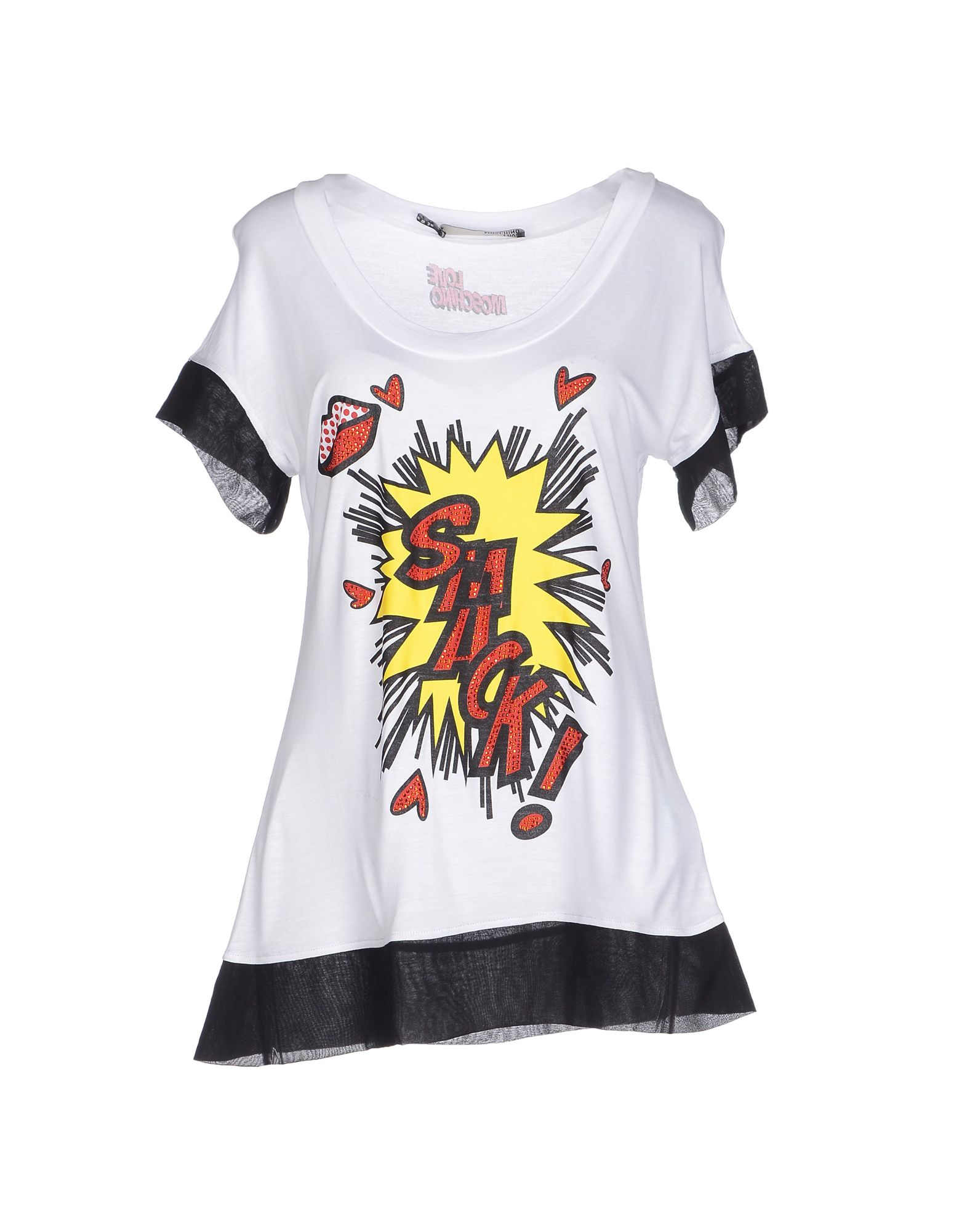 love moschino t shirt in white lyst. Black Bedroom Furniture Sets. Home Design Ideas