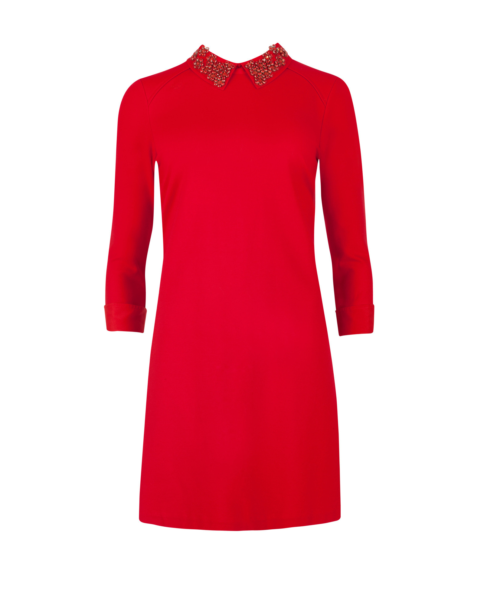 Ted baker Embellished Collar Dress in Red