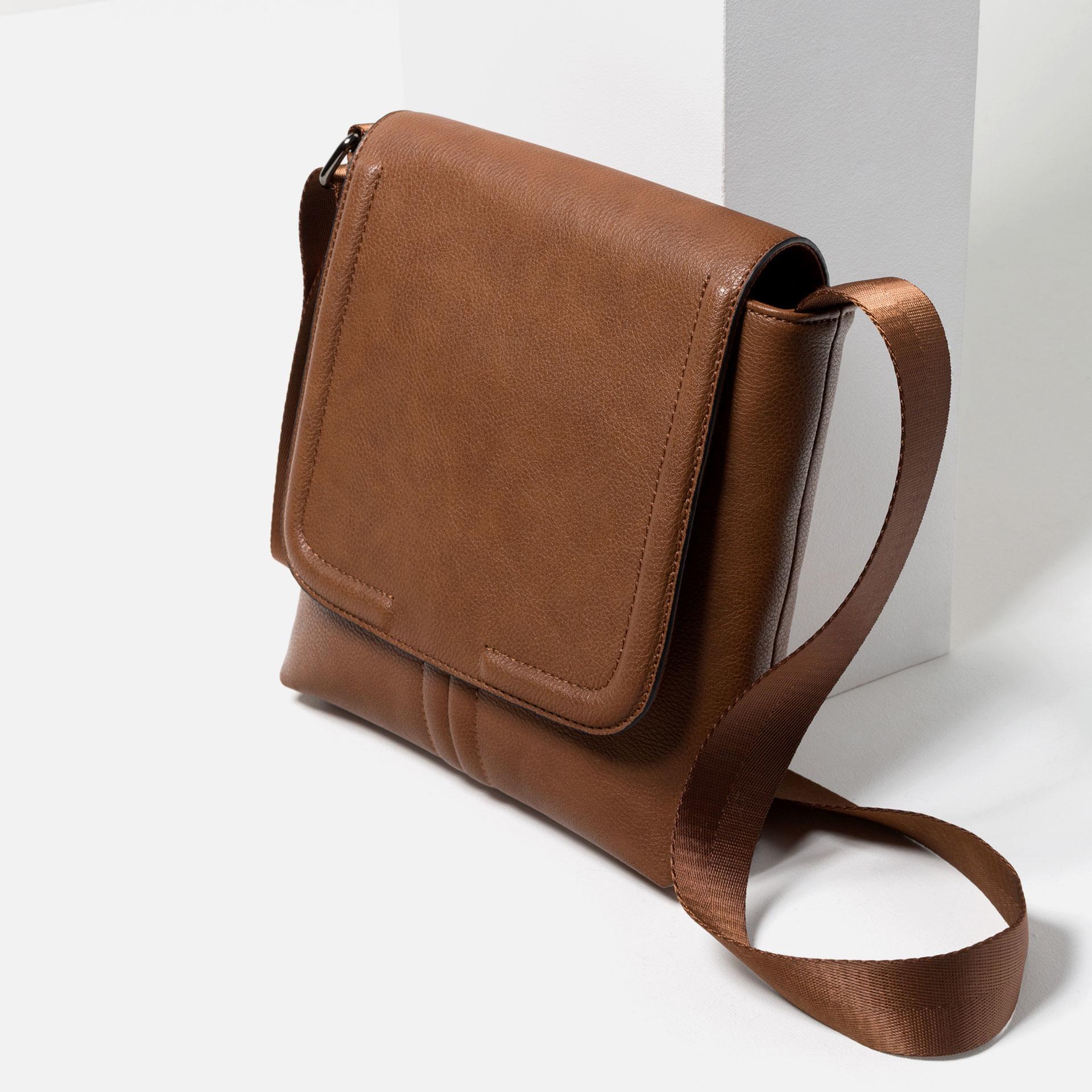 Zara Tumbled Effect Mini Messenger Bag for Men | Lyst