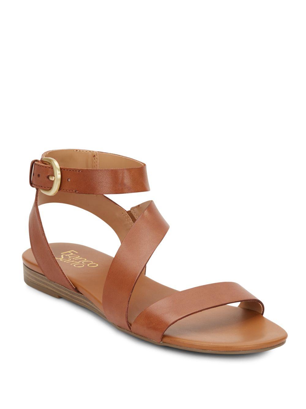 cc4ecd2b71e4 Lyst - Franco Sarto Gustar Leather Sandals in Natural