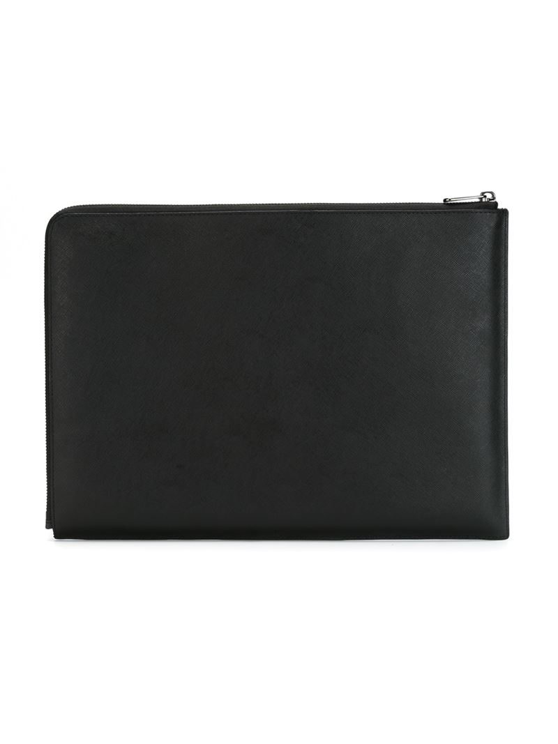 marc by marc jacobs 39 sophisticato www 39 13 laptop case in black lyst. Black Bedroom Furniture Sets. Home Design Ideas