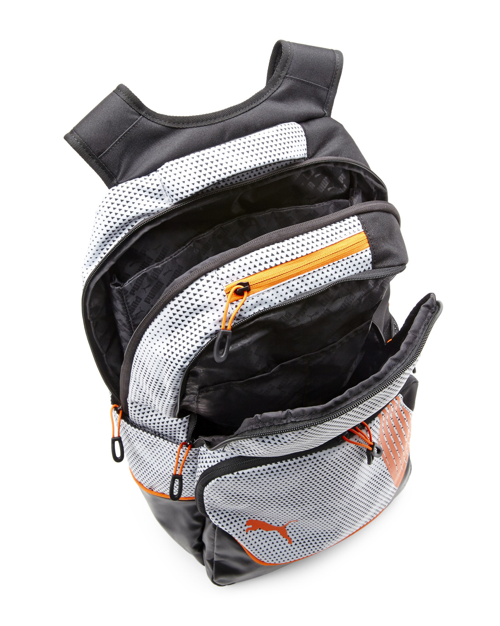 82f9c80e1bb0 Lyst - PUMA Black   Orange Raptide Backpack in Metallic for Men