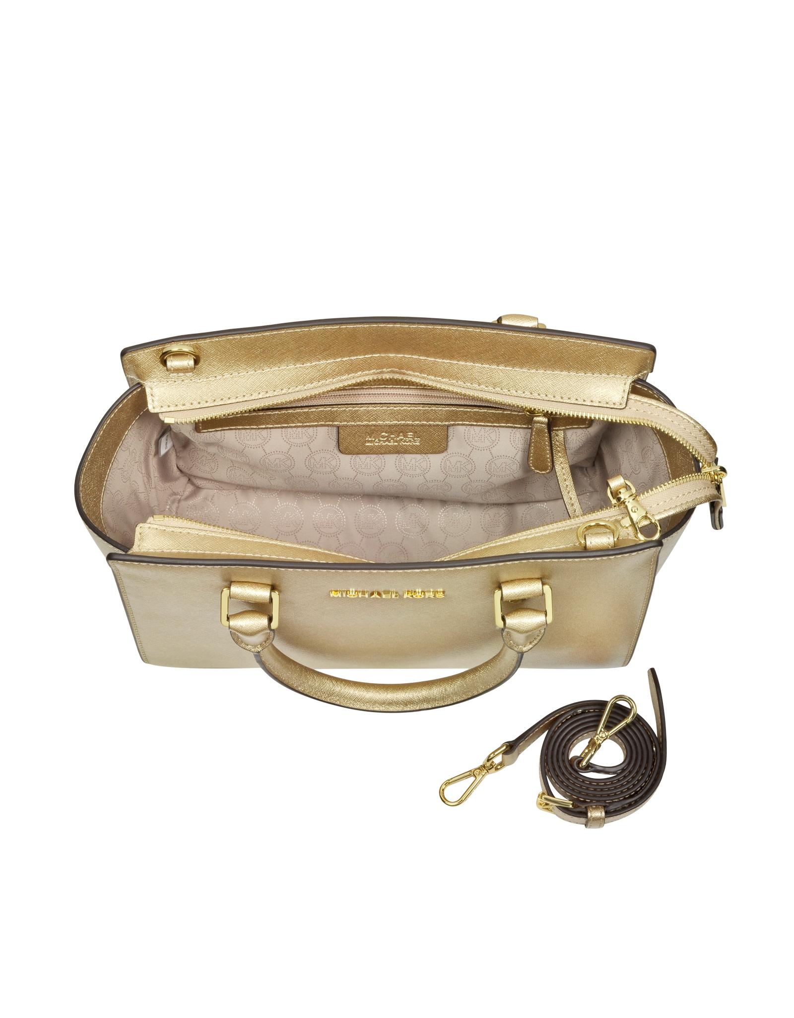 Lyst - Michael Kors Selma Saffiano Leather Medium Satchel Bag in ... 3e495abe9e4cd