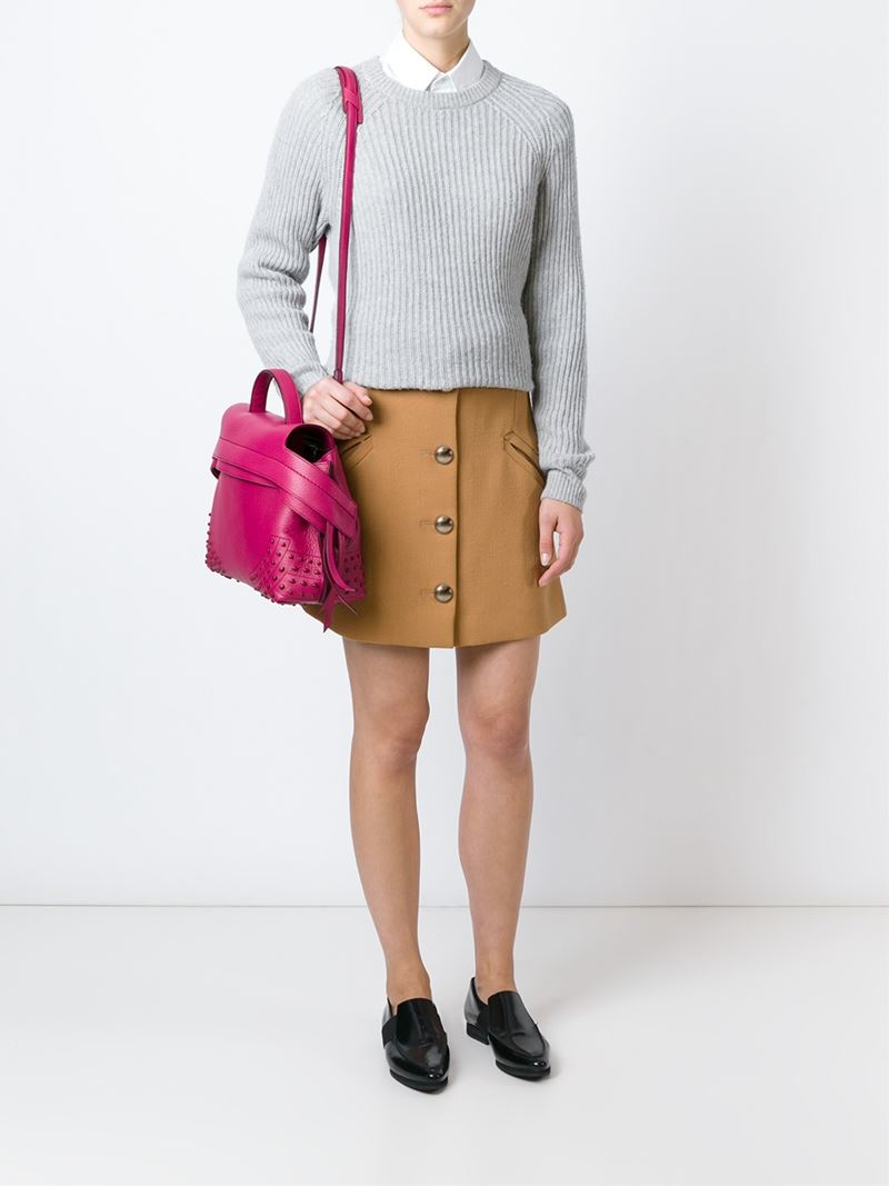 2a5c797e019 Lyst - Tod s  Wave  Tote in Pink