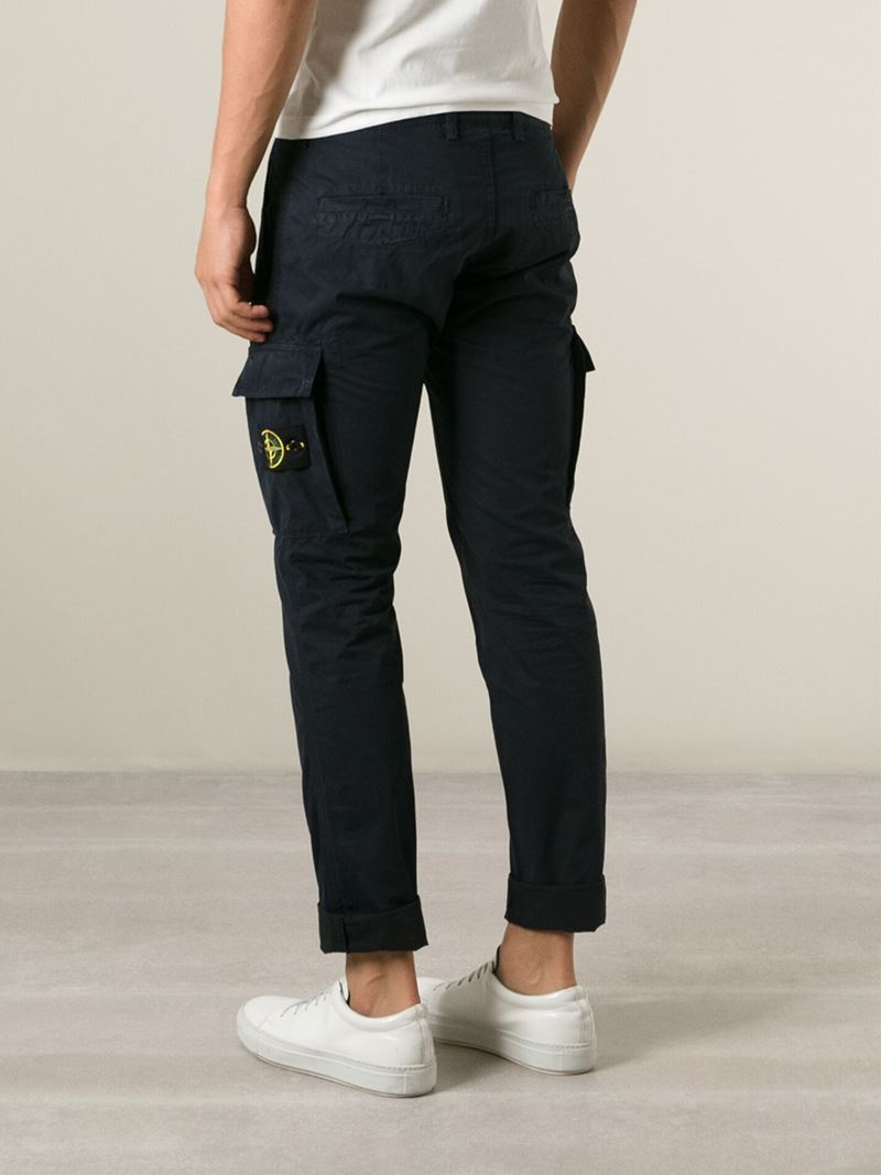 Stone island Cargo Trousers in Blue for Men | Lyst