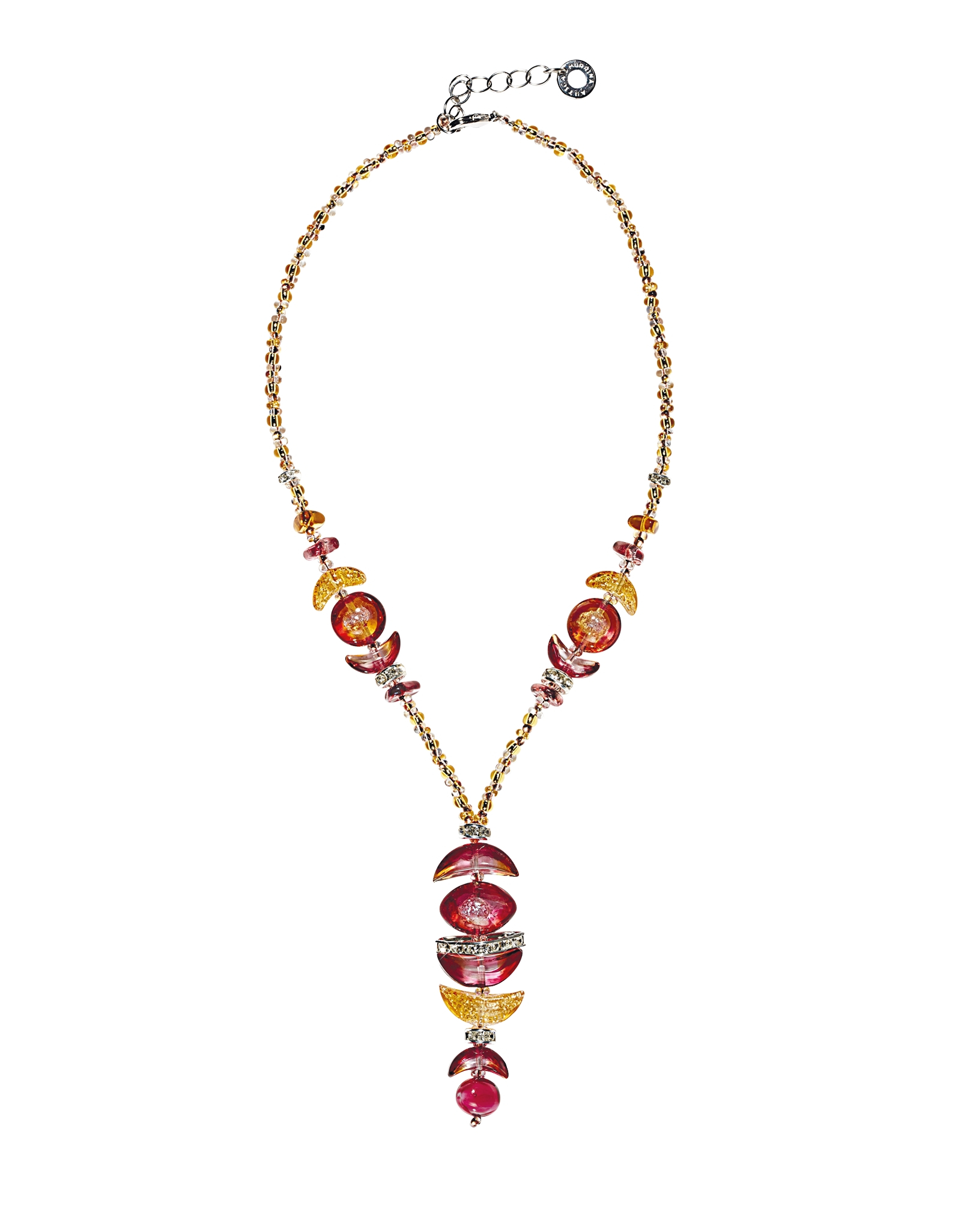 Lyst antica murrina elite 2 murano glass necklace wpendant gallery mozeypictures Choice Image