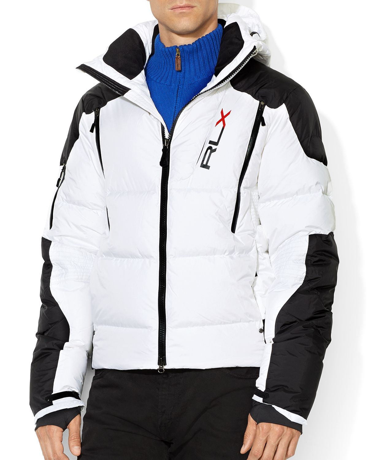 Ralph Lauren Polo Rlx Quilted Down Jacket In White For Men