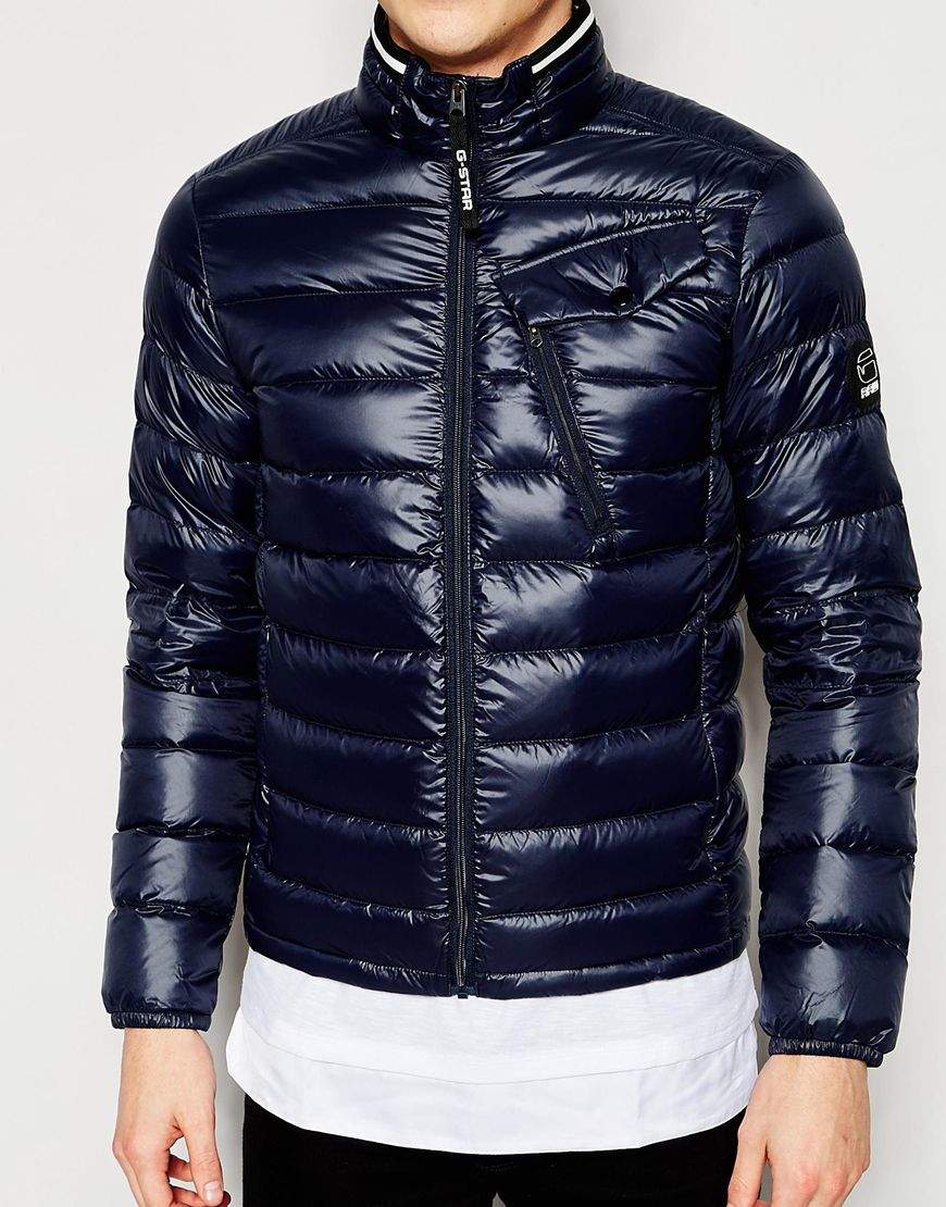 Lyst G Star Raw Quilted Jacket Revend Down Filled Nylon