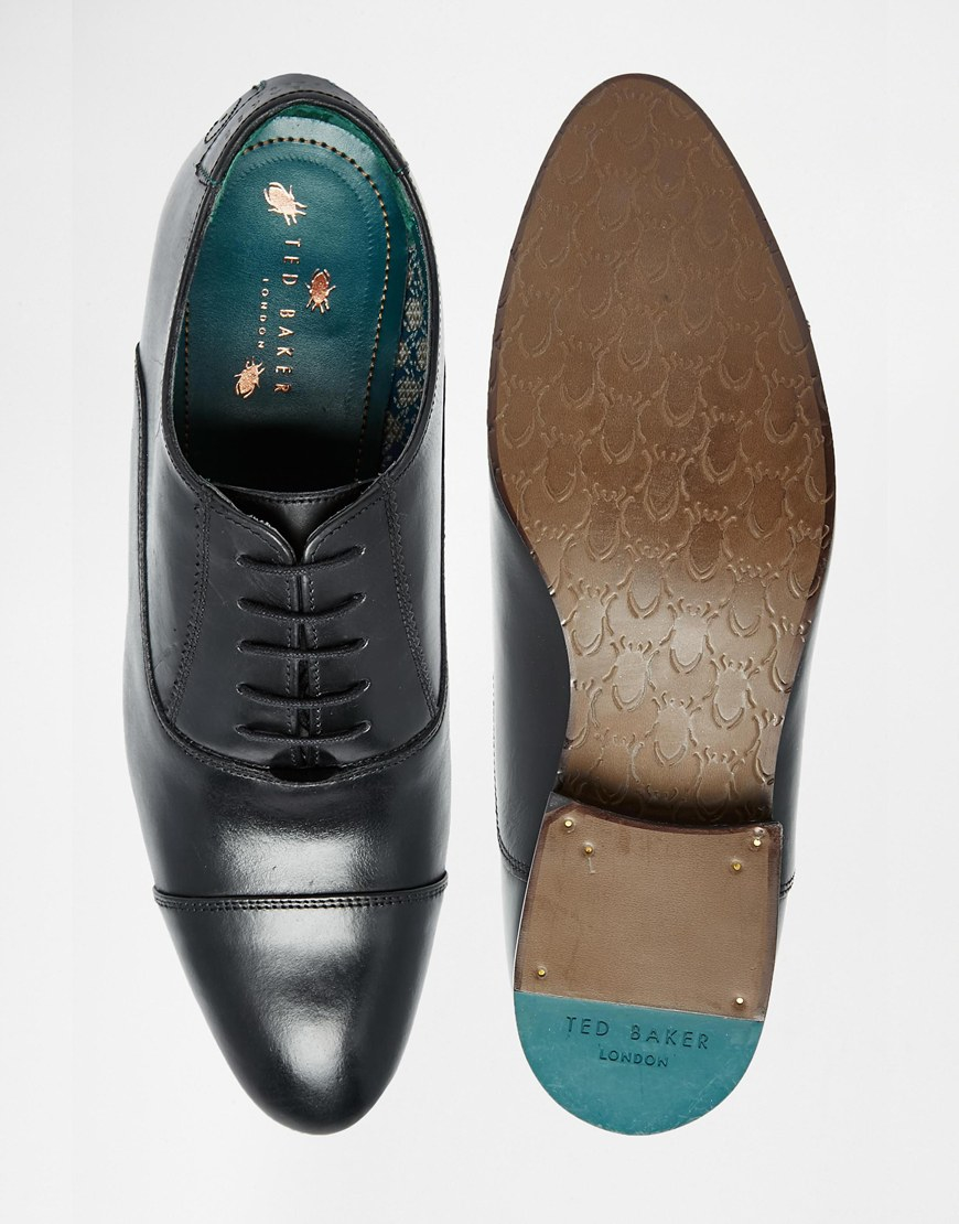 Ted Baker Men S Green Textured Derby Shoes