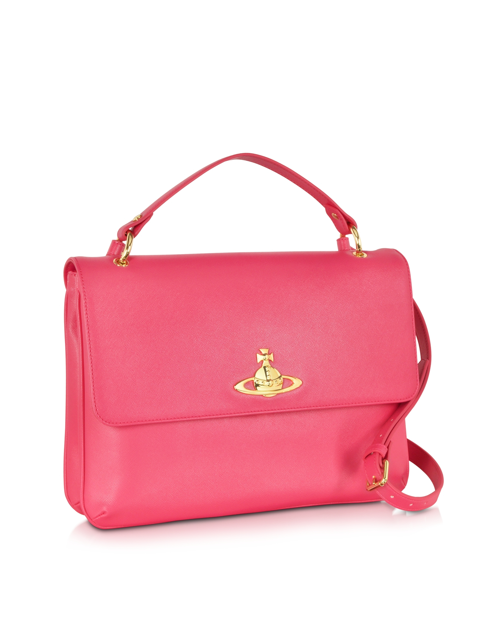 6266008d2d Vivienne Westwood Divina Coral Eco-Leather Crossbody Bag in Pink - Lyst