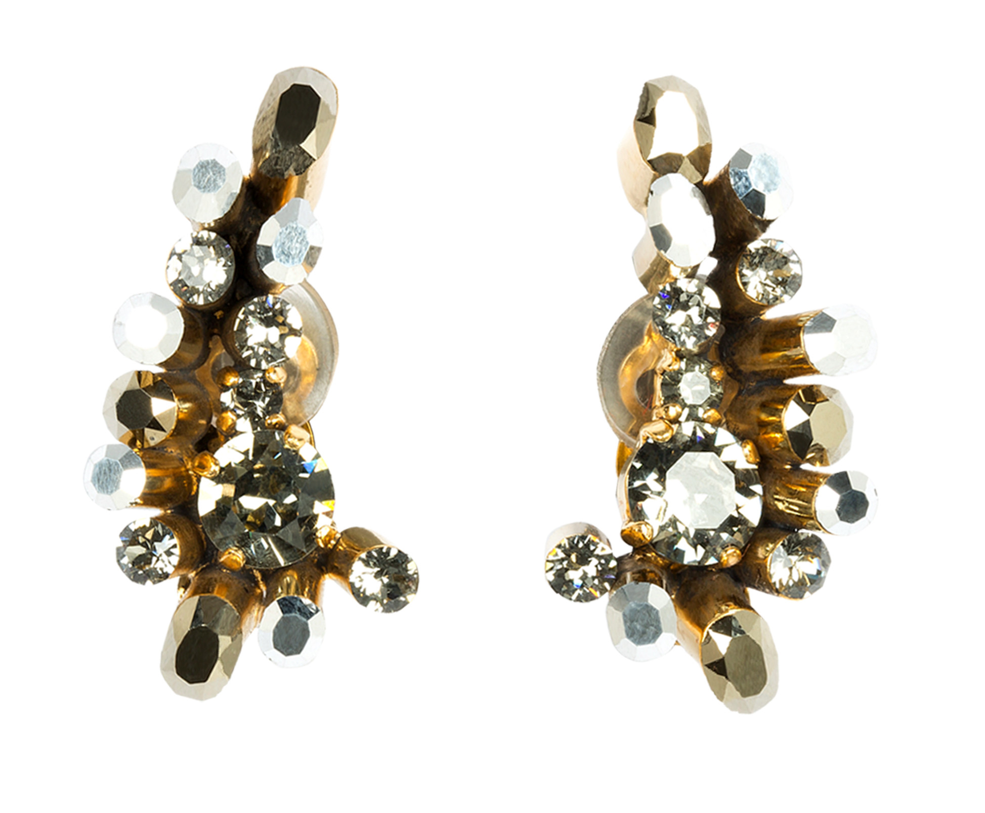 dorothee schumacher crystal edge ear cuff in multicolor gold flash lyst. Black Bedroom Furniture Sets. Home Design Ideas