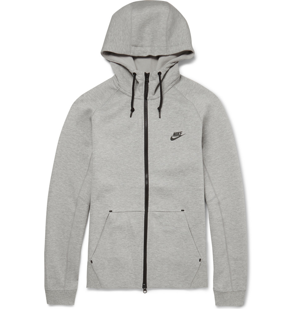 sneakers for cheap dfb2c 95ffe Nike Tech Fleeceback Cotton-Blend Hoodie in Gray for Men - Lyst