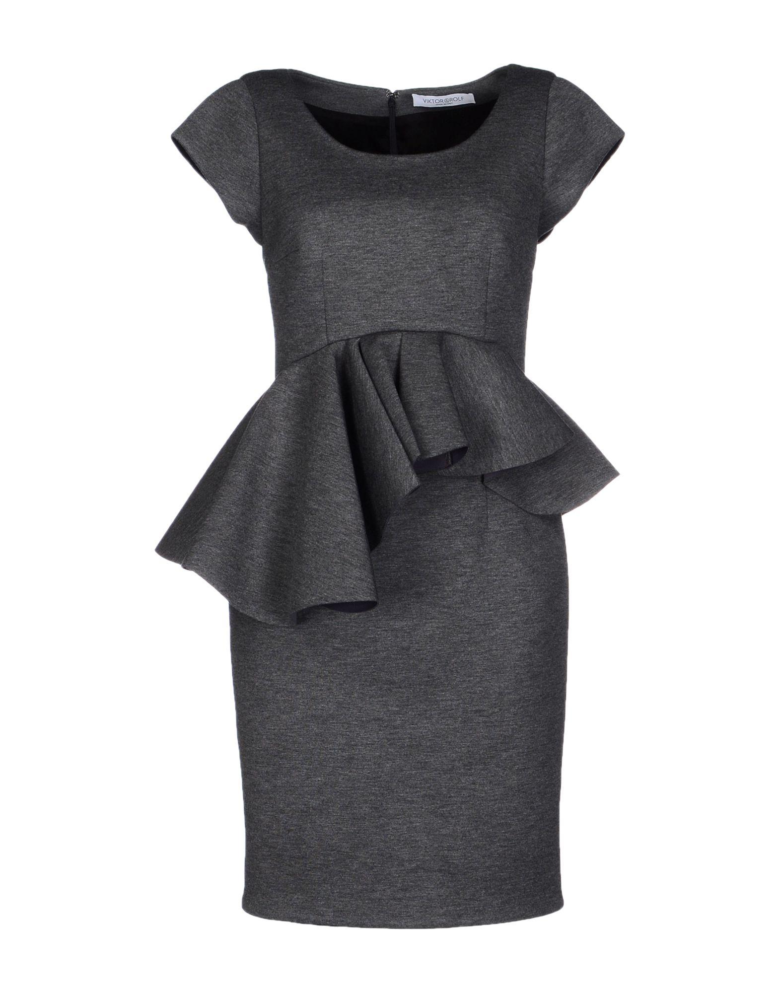viktor rolf short dress in gray lyst. Black Bedroom Furniture Sets. Home Design Ideas