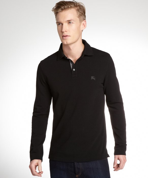 burberry sale outlet online a1ey  black long sleeve burberry shirt