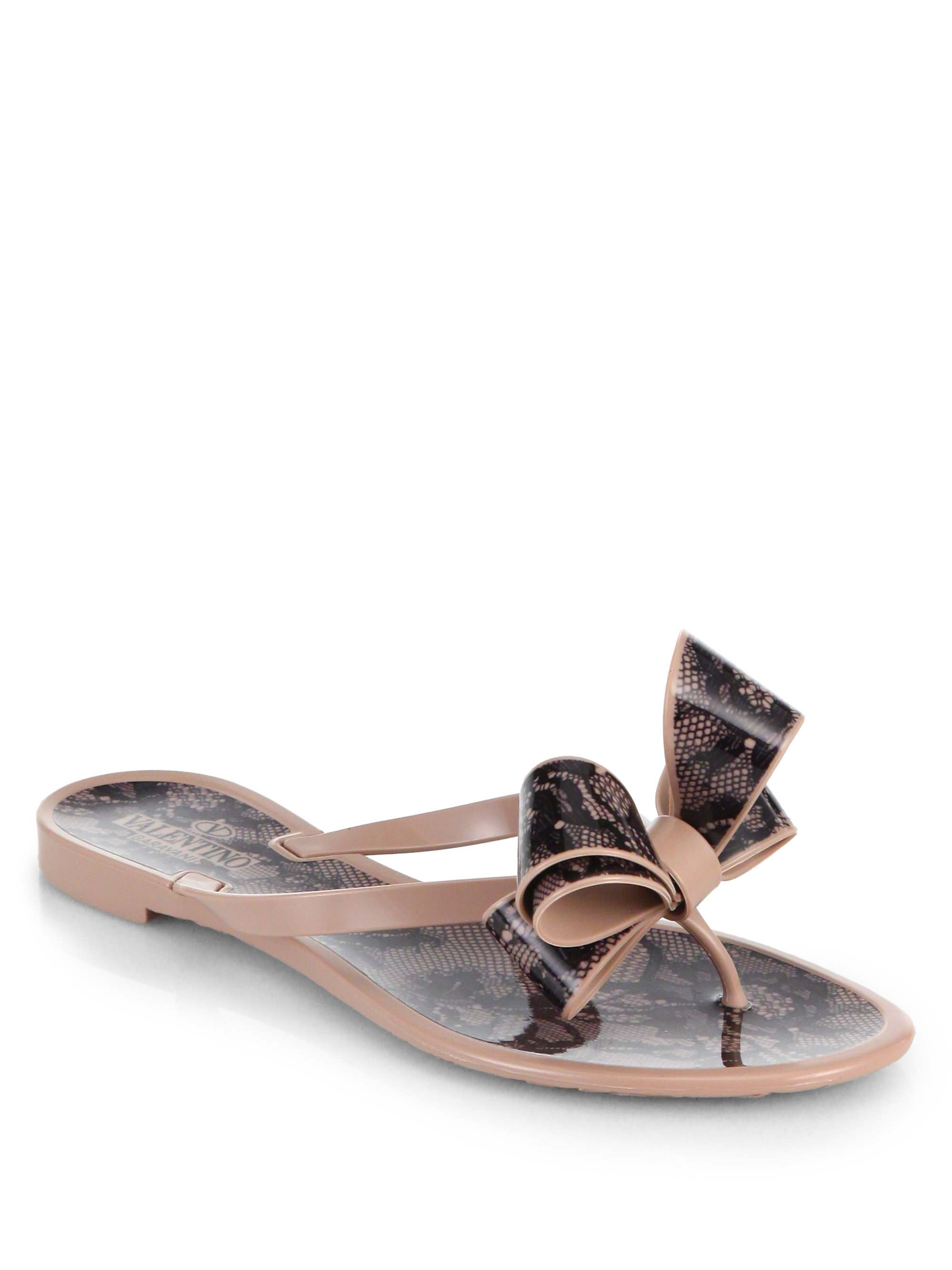 factory outlet for sale Valentino Lace Bow-Accented Sandals affordable online extremely sale online high quality cheap online XcrhmPC1NO