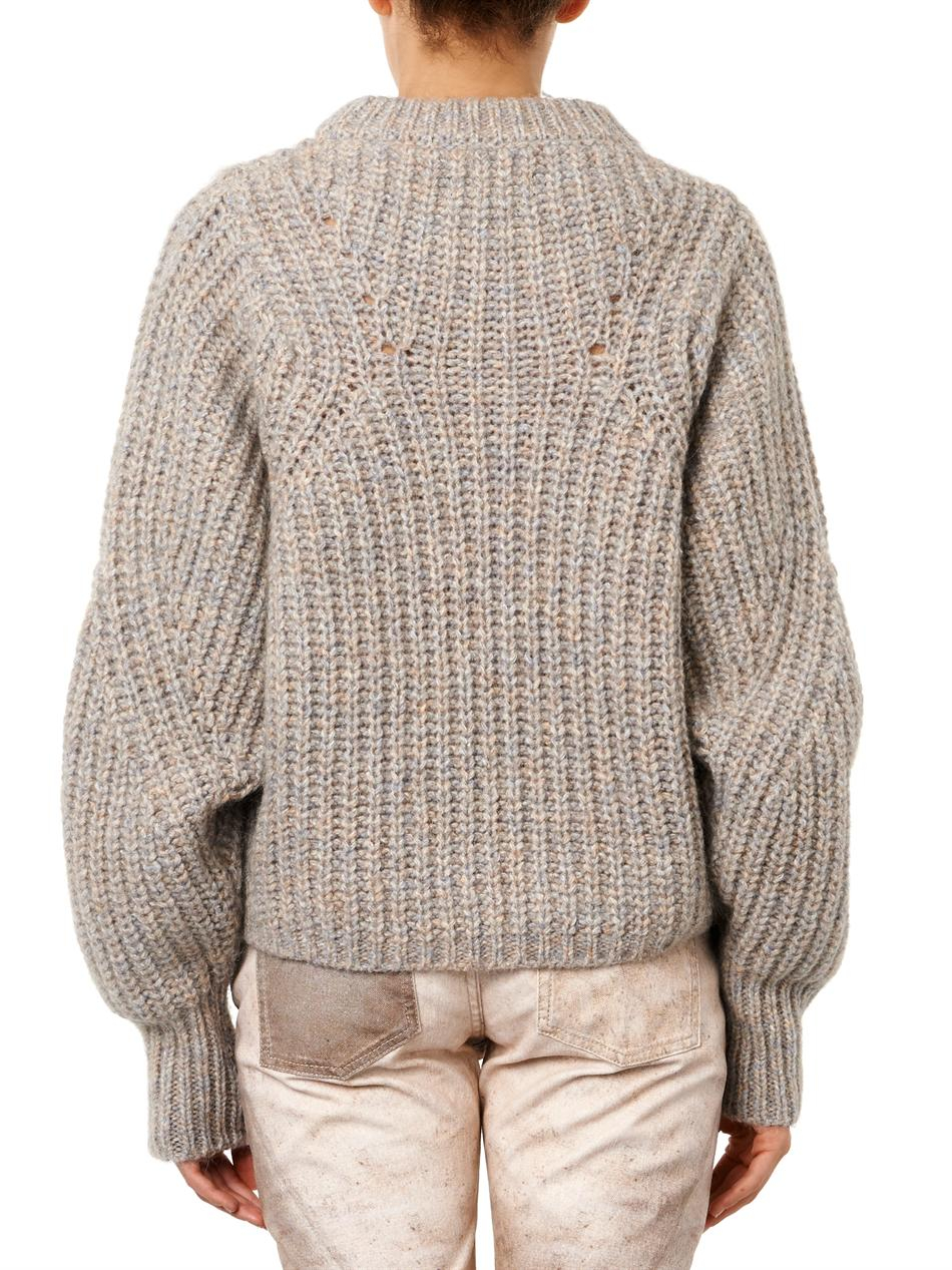 lyst isabel marant newt chunkyknit sweater in natural. Black Bedroom Furniture Sets. Home Design Ideas